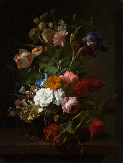 Vase with Flowers | Rachel Ruysch - Europeana Collections Florist Gl Vases Uk Html on