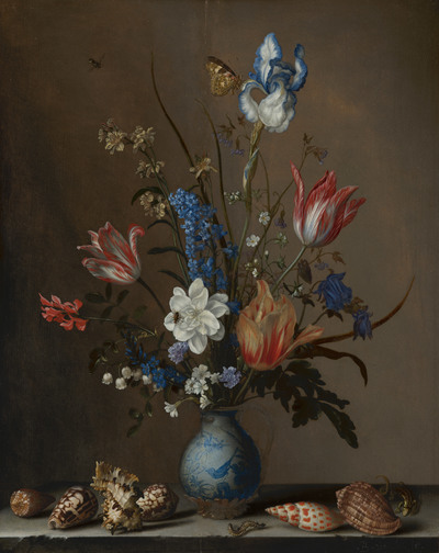 Flowers in a Wan-Li Vase, with Ss | Balthasar van der Ast ... on