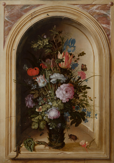 Vase of Flowers in a Stone Niche | Roelant Savery - Europeana ... Florist Gl Vases Uk Html on