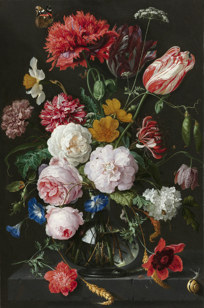 Still Life with Flowers in a Gl Vase | Heem, Jan Davidsz. de ... on