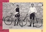 Athens 1896. Cycling. Léon Flameng (FRA) 1st in the 100 km. 2nd in the 10.000 m track race and 3rd in the 2000 m sprint and Paul Masson (FRA) 1th in thetime-trial over 333 m, the 10.000 track race and the 2.000 m sprint