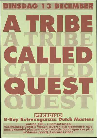Programma: 13 december A Tribe Called Quest.