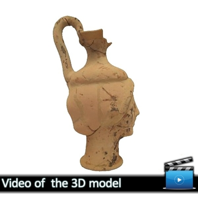 Head-Vase (Oinochoe) - Avdira Museum MA5425 (VIDEO)