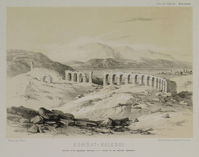 Ruins of an aqueduct in the area of Antioch of Pisidia, close to the town of Yalvaç.