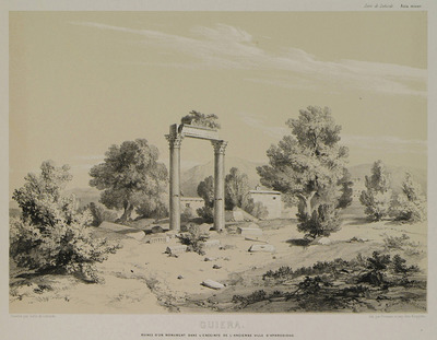 Ruins of a monument in Aphrodisias of Caria.
