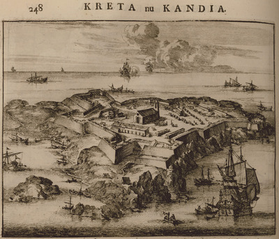Fortification on islet at the entrance of Souda bay.