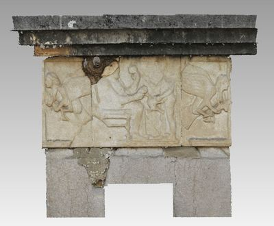 3d model of a low relief in the archaeological site of Xanthos
