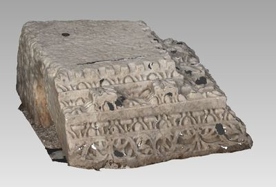 3d model of bloc TH450 in the archaeological site of Xanthos