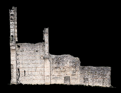 3d models of  wall 1 of the Gallien amphitheater