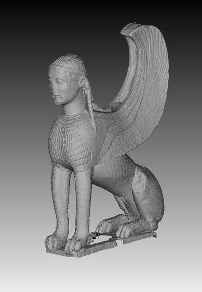 3d models of the Naxian Sphinx