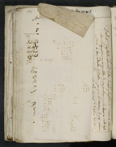 verso of extra slip with calculations
