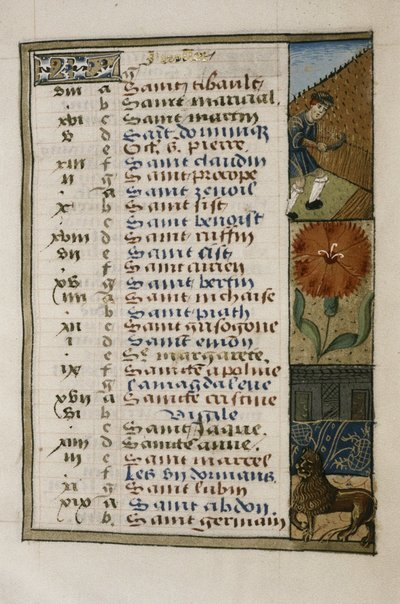 Book of Hours. Use of Rouen.