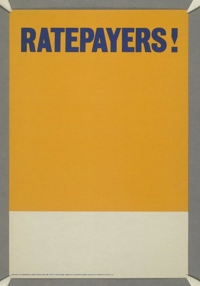 Ratepayers! [[Remainder of poster blank awaiting additional caption]