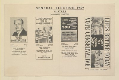 General Election posters (four different ones).