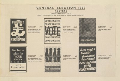 General Election posters (six different ones).