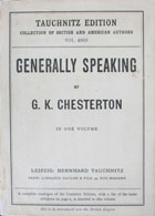 Generally speaking : a book of essays