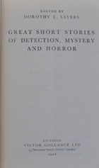 Great short stories of detection, mistery and horror