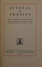 Juvenal and Persius : [satires]