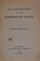 The quintessence of the Shakespeare secret