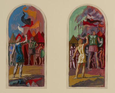 Six Scenes from the Old Testament, David and Goliath (green)