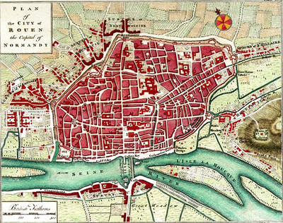 Plan of the City of Rouen the capital