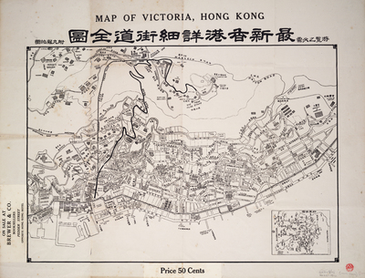 Map of Victoria, Hong Kong