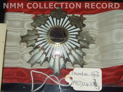 Badge and star: Order of the Rising Sun