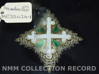 Badge and Star: Order of St Maurice and St Lazarus, 3rd class