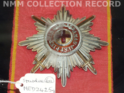 Badge and star: Order of St Anne, 1st class (military) 1855-1917