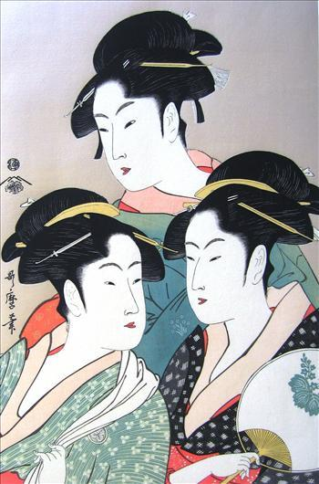 Three Beauties of High Fame | Utamaro Kitagawa