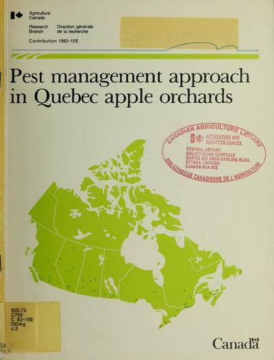 Pest management approach in Quebec apple orchards /