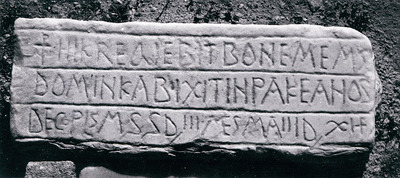 Christian funerary inscription