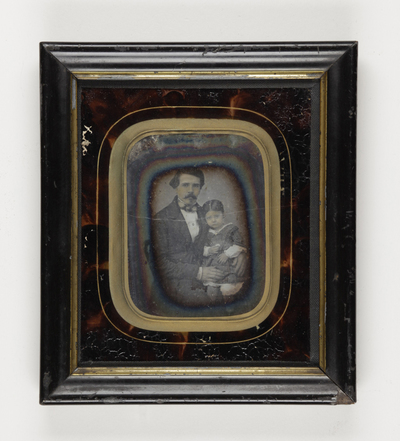 Portrait of man with girl