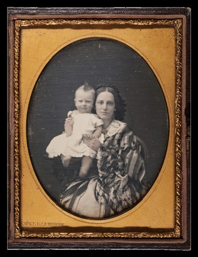 Attributed: Portrait of a woman with baby
