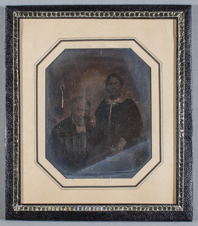 Portrait of Anders Palmberg (1786-1854) and his wife Hedvig Sofia (1806-1886). Jewellery is hand colored.(by Fredrik Rehnström?)