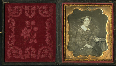 Mat is stamped with name of the daguerreotypist (Anson's Daguerreotypes & Photographs Gallery Broadway New York)