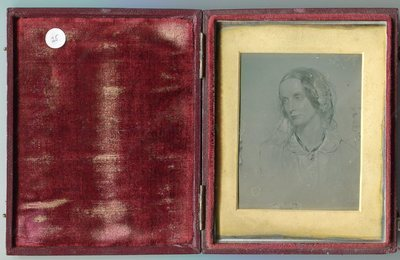 Unsealed plate. Image is a copy of a drawing by George Richmond and is very similar to his sketch of Charlotte Broente in the National Portrait Gallery of London
