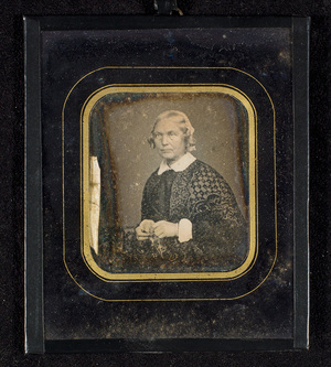 The portrayed Johanne Marie Garmann lived and worked with the female photographer Dorothea Regine Arentz, presumably she took this photography.