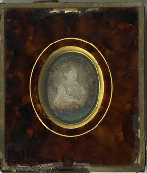Image is very damaged by corrosion. Date on the back does not refer to the image creation which is earlier