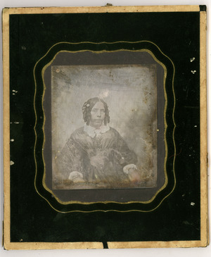 The daguerreotype is in a relatively good condition of conservation. There are signs of oxidation and a mirror effect.