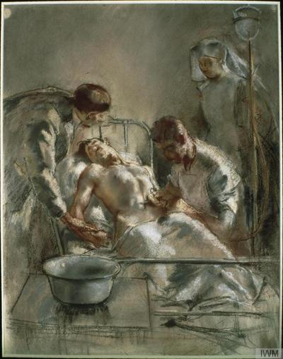 Saline Infusion: An incident in the British Red Cross Hospital, Arc-en-Barrois, 1915