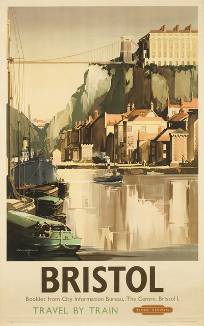 Poster: Bristol, 'Travel by Train'