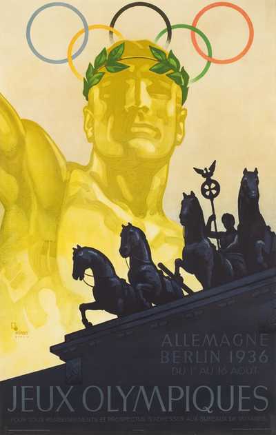 Poster: '1936 Berlin Olympic Games' [official poster, French Version]