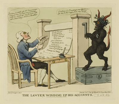 The Lawyer Winding Up His Accounts