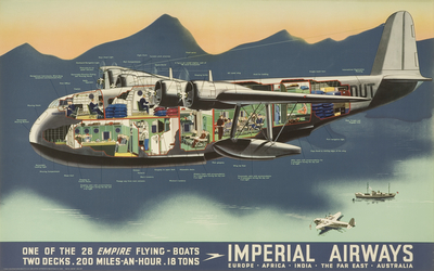 Poster: 'One of the 28 Empire Flying-Boats ...' [Imperial Airways]