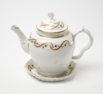 teapot, cover & stand