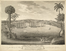 A View Looking South Of The Town And Harbour of Lucea In The Parish Of Hanover The North Side Of Jamaica