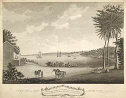 A View Of Dry Harbour In The Parish Of St Ann's Jamaica, Taken From The West End Of The Tavern, with The Fort And Barracks Now In Ruins