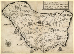A Topographicall Description and Admesurement of the YLAND of BARBADOS in the West INDYAES. With the Mrs Names of the Seuerall plantacons (sic).