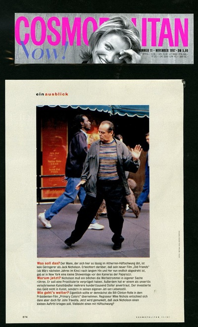 Actor Jack Nicholson And His Pullover Missoni